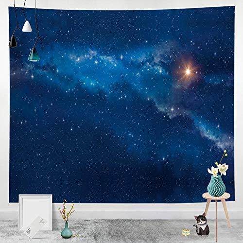 Tapiz Colgante de Pared Tapices de Pared,Tapiz 3D del Cielo del Bosque Estrellado, Tapiz del Cielo Nocturno para la decoración de la Pared del Dormitorio de la Sala de Estar-B_150x130cm