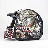 HYRGLIZI Casco de Motocicleta para Adultos, Medio Casco Abie