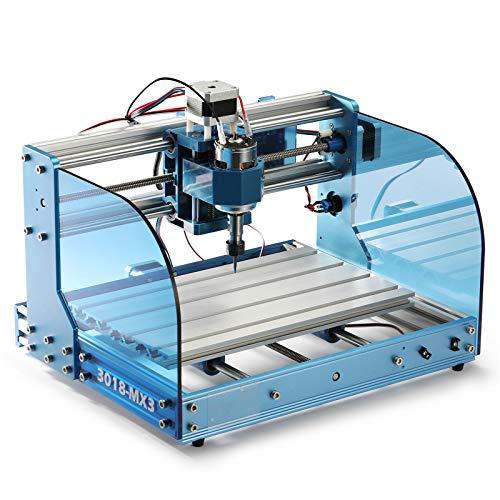 Máquina fresadora CNC Genmitsu 3018-PROVer Mach3 con control Mach3, interruptores de límite y parada de emergencia, 300 x 180 x 45mm, versión mejorada de 3018-MX3