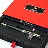 Free Engraving - Personalized Sotania Swiss Expert Black Ballpoint Pen, Medium Point, Roller pens, Groomsmen Gift, Free Custom Engraved Gifts for Men, Women