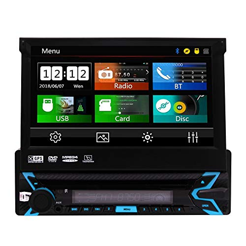 Neu kommt Universal-Wince Head Unit Einzel Din Autoradio GPS-Navigation 7 Zoll kapazitiven Touch Screen DVD-Spieler in der abnehmbaren Panel Autoradio Unterst¨¹Tzung Navi/USB/SD/Cam-in/Bl