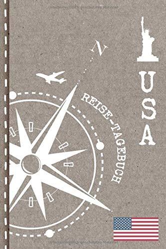 USA Reisetagebuch: Reise Tagebuch zum Selberschreiben, ca. A5 - Journal Dotted Punkteraster für Urlaub, Ferien, Auslandsjahr, Au Pair, Auswanderer - Abschiedsbuch Geschenk Notizbuch Dot Grid punktiert