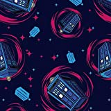 Fat Quarter Doctor Who Tardis Telefonzelle, 100 % Baumwolle