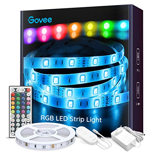 Striscia LED, Govee Strisce LED 5M RGB 5050 con 44 Tasti Telecomando...