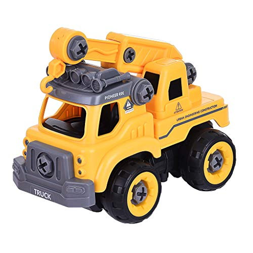 ASD123 U.S. Shipping DIY Crane Take Apart Toys-Electric Drill-Converts to Remote Control Car 3-5 Days delivery