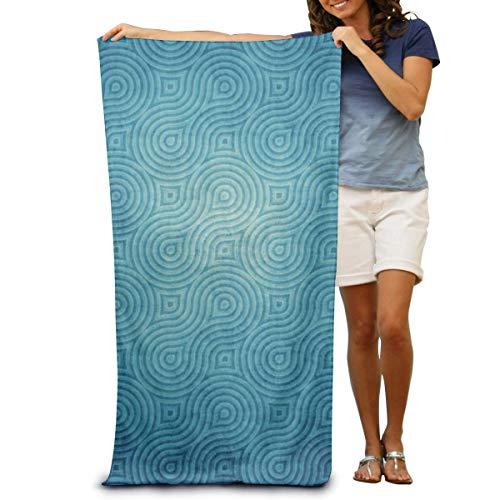 Toallas de Playa de Antiarena de Microfibra para Hombre Mujer, 130x80cm, Toallas Baño Calidad Gigante Secado Rapido para Piscina, Manta Playa, Toalla Yoga Deporte Gimnasio,Textura Azul