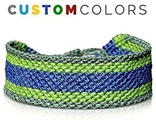 RUMI SUMAQ Custom Mens Bracelet | Woven Striped Macrame Adjustable Sailor Bracelet in Customized Colors and Sizes