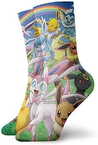 FFull-BAtttery-Shop Sportsocken, Pikachu And Friends Poke-mon Crew-Socken Outdoor-Socken für Gilrs And Boys