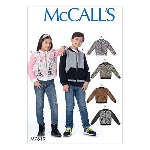 Mccall's Patronen 7619 CCE, Kind/Meisjes/Jongens Jassen, Maten 3-6, Tissue, Multi/Kleur, 17 x 0.5 x 0.07 cm