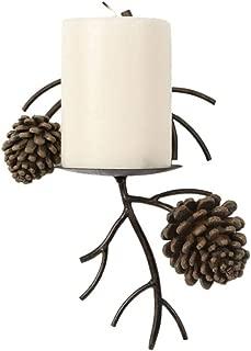 DEI Pinecone Pine Cone Candle Wall Sconce Lodge Home Decor 1 unit