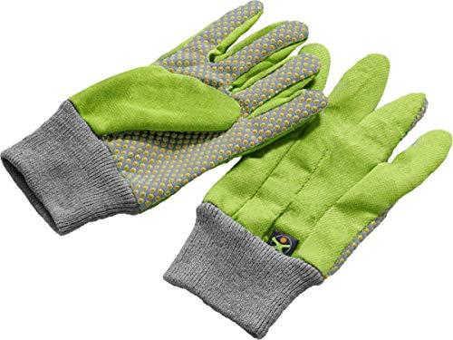 HABA 304510 Terra Kids werkhandschoenen, werkhandschoenen, handschoenen, maat 5.5, met latexnoppen, transparant