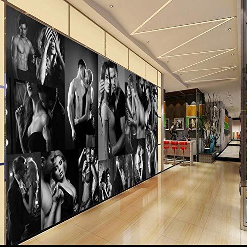 PapelTapiz3D Mural Fitness FondoDecoración para el hogar Retro Gym_Fitness Wallpaper_300Cm (W) X210Cm (H)