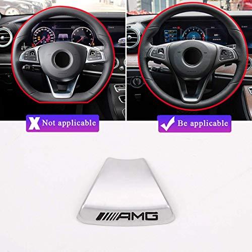 YIWANG Zinklegierung Lenkrad Emblem Dekor Aufkleber Abzeichen Dekoration AMG Logo für Benz A B C E Klasse GLA CLA GLC GLE GLS W213 W205 x253 (rundes Lenkrad)