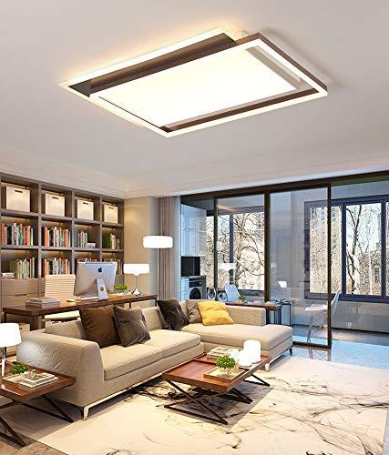 S-L Dormitorio LED Luz de techo, 200W equivalente, 72W 1250lm Modo de cambio de 3 colores regulable, moderno montaje en descarga, lámparas de techo araña de rectángulo, para cocina salón comedor