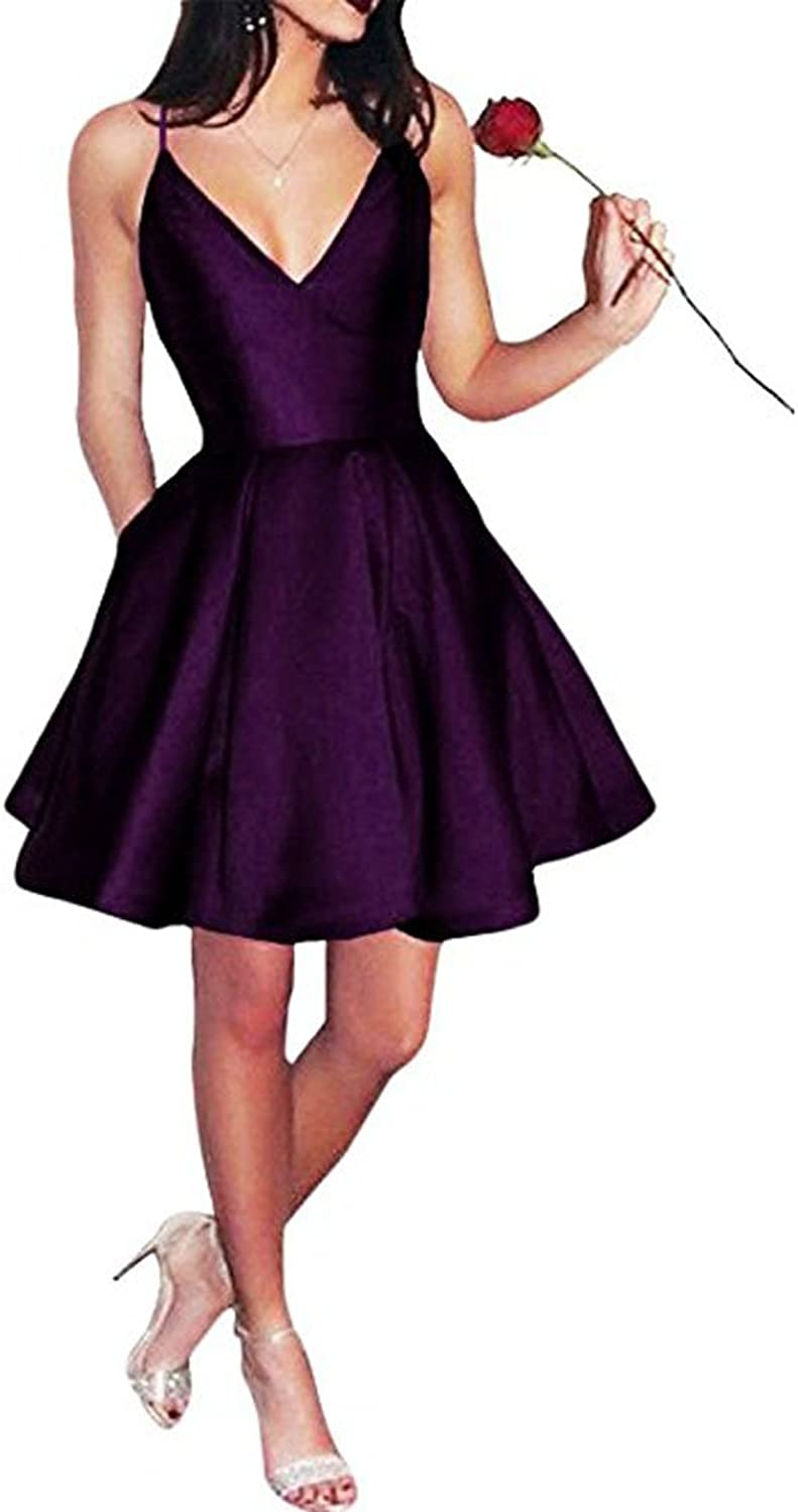 Beautydress Short Pluging Vneck Party Homecoming Dress with Pockets BP140