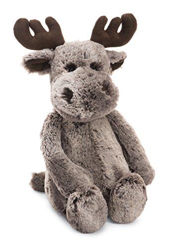 Jellycat Bashful Marty Moose Stuffed Animal, Medium, 12 inches