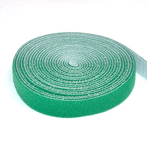 TFY Reusable Hook & Loop Fastening Tape,0.75 Inches x 180 Inches -Green