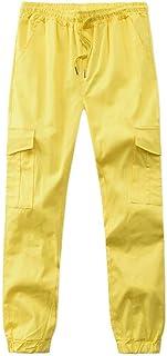 SPE969 Men Casual Slim Pant,Drawsting Pocket Strap Elastic Trend Trousers