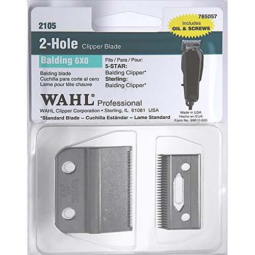 WAHL Professional 2 Hole Balding 6x0 Clipper Blade (Model:2105)