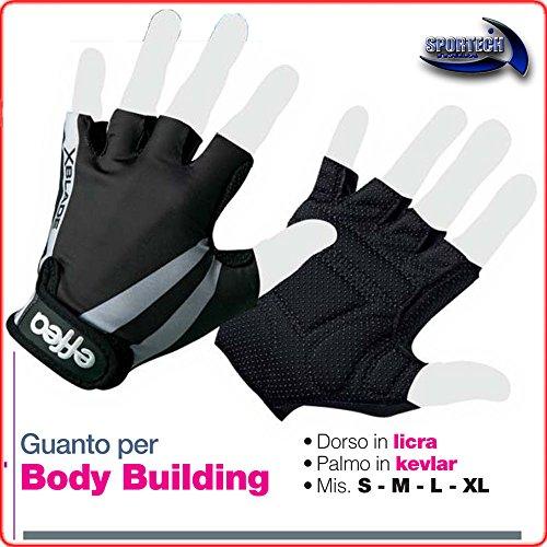 EFFEA SPORT Guanto per Body Building, EF6034 (M)