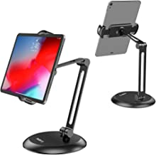 Nulaxy Adjustable Tablet Stand, Heavy Duty Desktop Tablet Holder Mount, macOS Catalina Sidecar, 2-Stage Metal Arm Compatible with 4-11