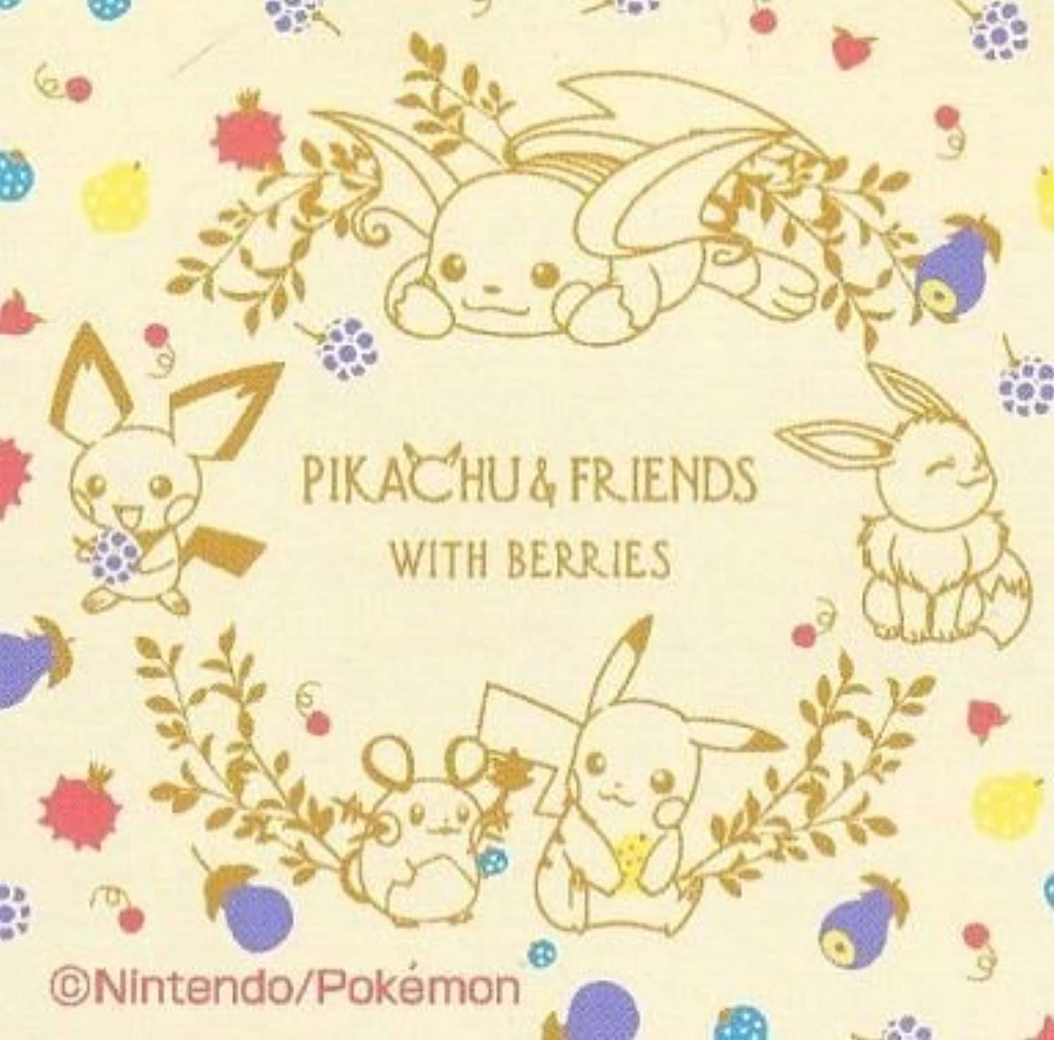 The most lottery DreamStore PIKACHU & FRIENDS WITH BERRIES I Award colorful design towel all set separately
