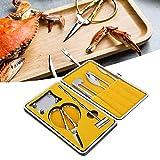8PCS Coltelli per frutti di mare, forchette per cracker al granchio in acciaio inossidabile Set Forbici per frutti di mare Artiglio Strumenti artigianali per viaggi a casa(02)
