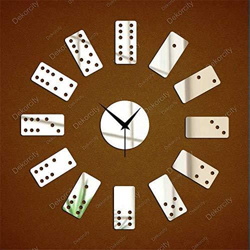 ZhenFa Domino Wand Uhr Tapete Wände Aufkleber Mahjong Digitale Spiegel Wandtattoo