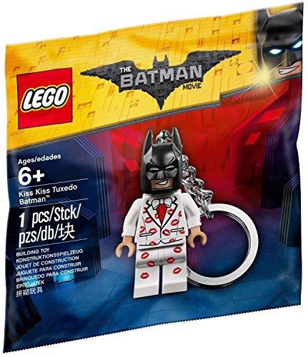 LEGO Batman La Película - Juguete de construcción, llavero de Batman con esmoquín Kiss Kiss 5004928