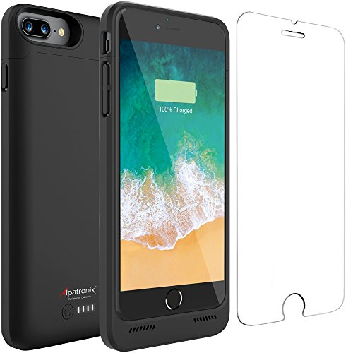 iPhone 8 Plus/7 Plus/6S Plus/6 Plus Battery Case, 5000mAh Extended Charger Case Charging Compatible with iPhone 8 Plus, iPhone 7 Plus, iPhone 6S/6 Plus (5.5 inch) BX180plus –Black