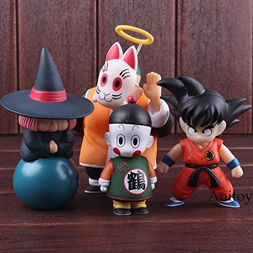 xstorex Anime Dragon Ball Figura de acción Son Goku Gohan Chiaotzu Puar Uranai Baba Maestro Roshi Pilaf Dragon Ball Figura PVC Juguetes 4pcs / Set-si