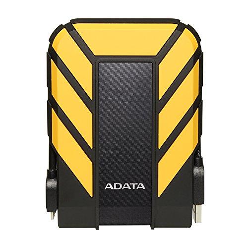ADATA Disco Duro Externo HDD HD710P, 2 TB, Resistente a golpes,agua y polvo, certificación grado militar, Color Amarillo