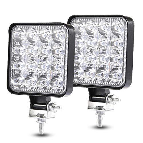 LED Arbeitsscheinwerfer 2x 48W LED Offroad Scheinwerfer 12V 24V Zusatzscheinwerfe Wasserdicht IP67 Abstrahlwinkel 60° Für Trecker Jeep KFZ Bagger SUV UTV ATV