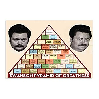Swanson Pyramid of Greatness Canvas Poster Wall Art Decor Print Picture Paintings for Living Room Bedroom Decoration 16×24inch 40×60cm  Unframe-style1