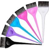 Set de 6 Cepillos de Teñir Cabello, Kit de Herramientas de Tinte de Cabello Pincel Aplicador de Colorear Herramientas de Peluquería para Estudiante Mujer Coloración de Salón de Casa, 6 Colores