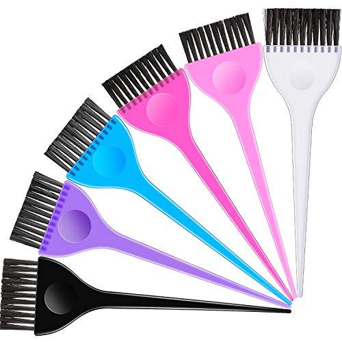 6 Stücke Haarfärbemittel Farbe Bürsten Set, Haarfarben Werkzeug Set Malpinsel Farbstoff Applikator Friseur Salon Werkzeuge für Studenten Frauen Salon Verwenden Zuhause DIY Färben, 6 Farben