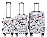 Loves - Trolley Koffer, Hartschale, Wahlweise Set 3-teilig - XL, L oder M-Trolley, 4 Rollen, XL-Light, (Set)