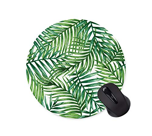 Tropical Floral Mouse Pad Neoprene Round Mouse Pad Office Computer Accessories Mouse Pad Gaming Mouse Pad