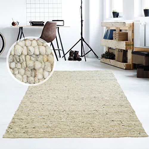 Taracarpet Moderner Handweb Teppich Alpina handgewebt aus Schurwolle für Wohnzimmer, Esszimmer,...