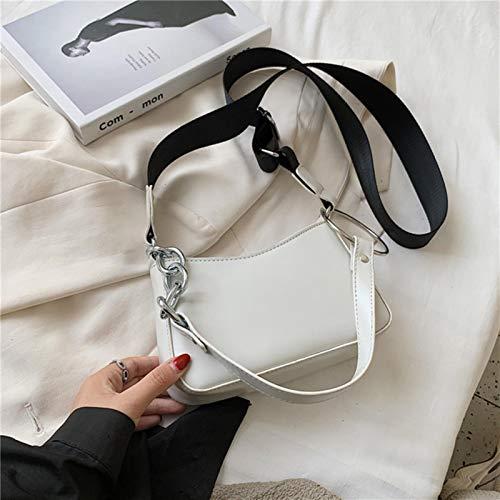 Hzryc Small PU Leather Bag For Women Trend Bag Chain Shoulder Handbags Female Travel Ed Hand Bag Crossbody Bags,white,21cmx13cmx6cm