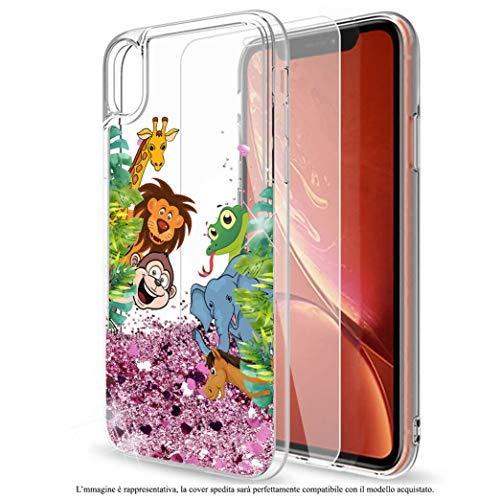 Mixroom Schutzhülle für Samsung Galaxy S7 Edge, mit Glitzer, Flüssig-Gel, Motiv: Dschungel