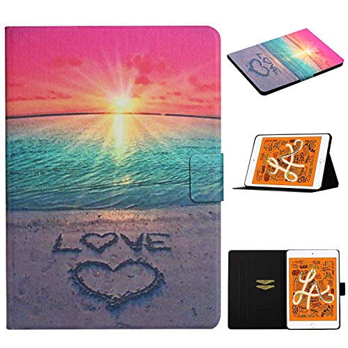 L&Btech iPad Mini 1/2 / 3/ 4 / 5 Case, iPad Mini 5th/4th generation 7.9'' Cover Slim Flip Wallet Stand Case with Auto Sleep/Wake Card Holder for iPad Mini 5 4 3 2 1 Tablet - Sunrise