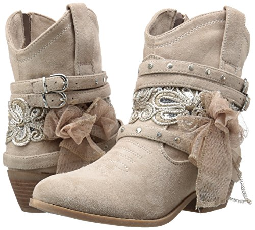 Cute Cream Color Ankle Bootie for Teens