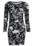 Robe tunique moulante pour femme Motifs variés Batman Têtes de mort -  Noir - Noir - 38