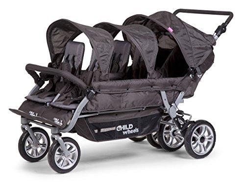 strapazierf/ähig Famililyoo Kinderwagen f/ür 6-Sitzer