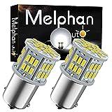 Melphan-Auto 1156 Bulb Reverse Light, Led 1141 1003 7506 BA15S Bulbs, 12V-24V 54SMD Used for Truck Car Backup Reverse Lights, Tail Parking Lights,Camper Trailer RV Interior Light, 2pcs White