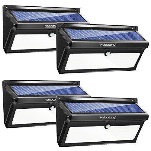 Neloodony Solar Lights Outdoor 100 LED Waterproof Solar Motion Sensor Light Outdoor Super Bright...
