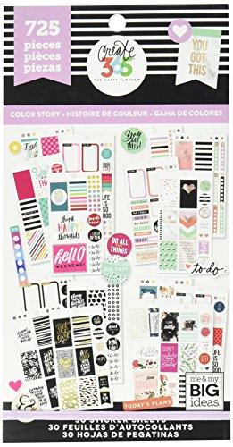 Me and My Big Ideas Super Pack de Pegatinas Classic Color Way Happy Planner