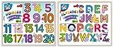 Juego de 2 rompecabezas de madera con números y alfabeto, rompecabezas para niños y niños, juguete educativo para niños