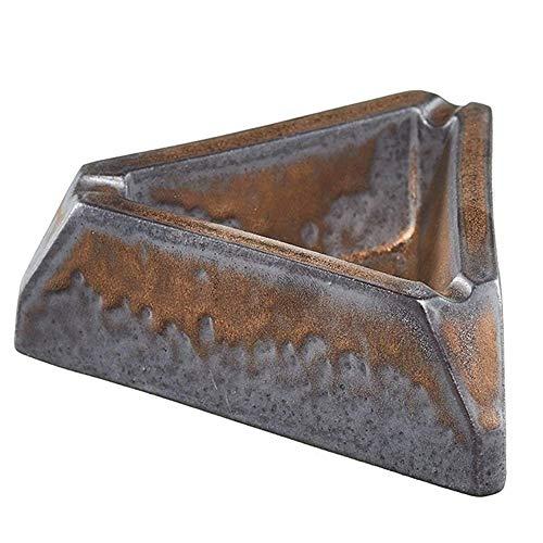 ZCCLCH Cenicero de cigarrillos para uso en interiores o exteriores, soporte para cenizas para fumadores, bandeja de ceniza para fumar de escritorio para decoración de oficina en el hogar